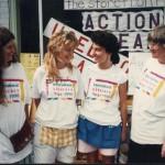 Action Read staff celebrate wearing International Literacy Year t-shirts.