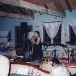 Author Kim Anderson reading at an early 'For the Love of Words' event.