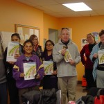 'Good Eats' group holding Canada Food Guide.