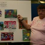 Shirley Almack Award recipient Bonnie Ford discussing her art.