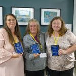 Lisa Dee, Lana Dietrich and Bev Nuttall, 2018 AGM Award Winners