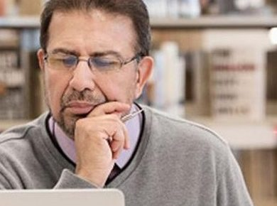Man looking at a laptop. Image © Southern Regional Educational Board.